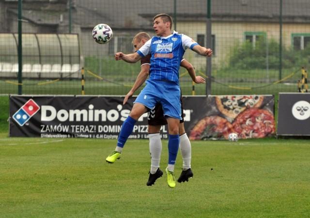 Mateusz Ozimek w meczu Garbarnia - Hutnik, rozegranym 24 października 2020 roku