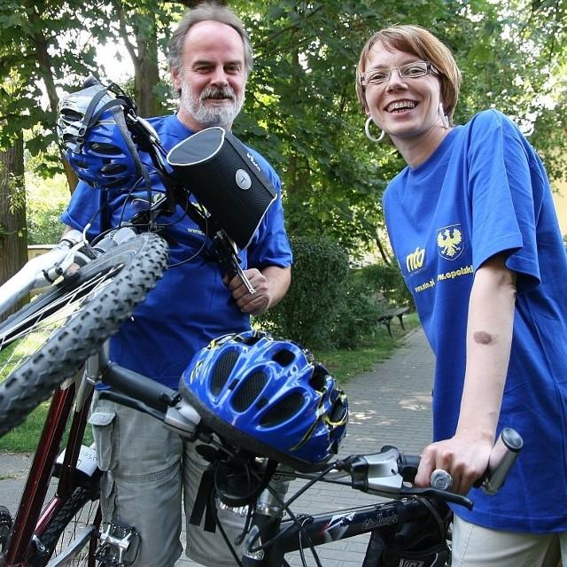 W kolejnym patrolu rowerowym nto jedzie Katarzyna Kownacka i Andrzej Jagiełła.