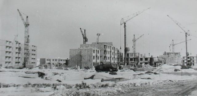 Suwałki. Budowa osiedla Północ. Rok 1980