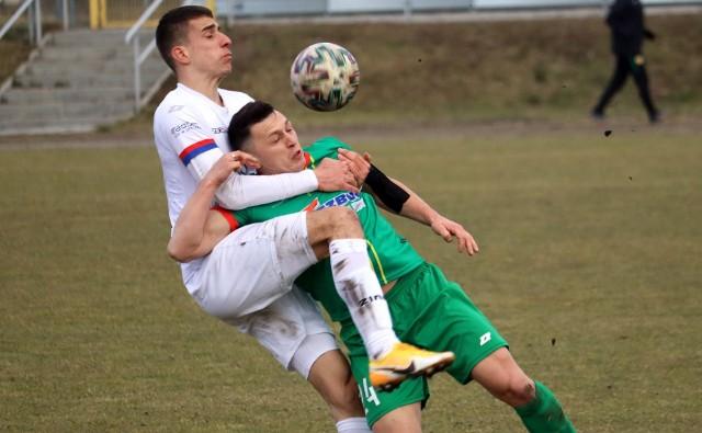 Fragment meczu Lechia - Broń. W marcu było 0:0