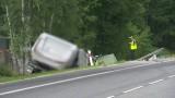 Mińsk Mazowiecki: Tragiczny wypadek na DK50 w Grębiszewie. Zginęli dwaj kierowcy i dwoje dzieci
