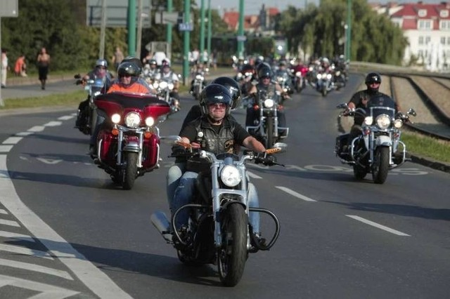 Harleyowcy opanowali Poznań