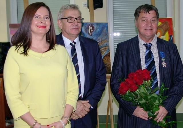 Violetta Porowska, Krzysztof Nazimek i prof. Ulrich Trenckmann.
