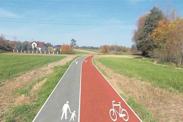Tak mają wyglądać trasy pieszo-rowerowe w gminie Miechów