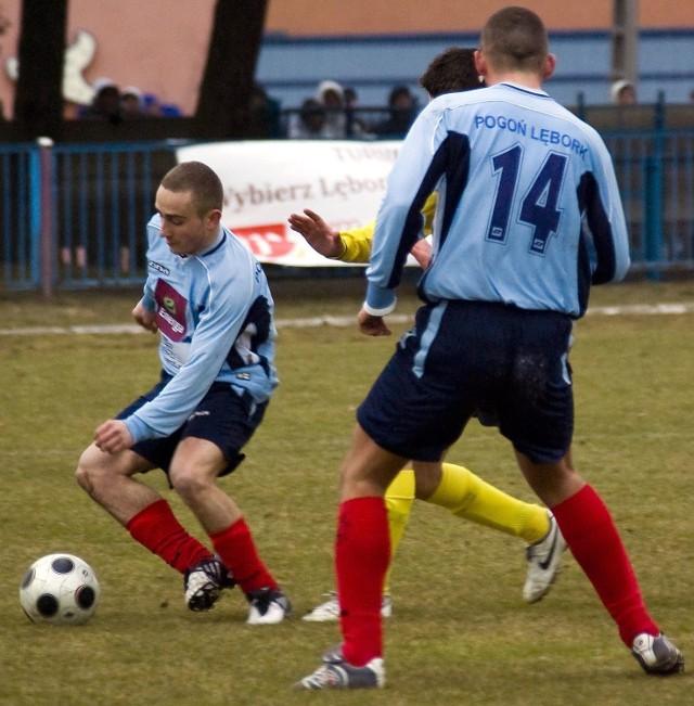 Lęborczanie wygrali z Czarnymi Pruszcz Gdański 2:0.