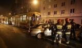 Wypadek na Piotrkowskiej! Zderzenie tramwaju z samochodem. Sa ranni!