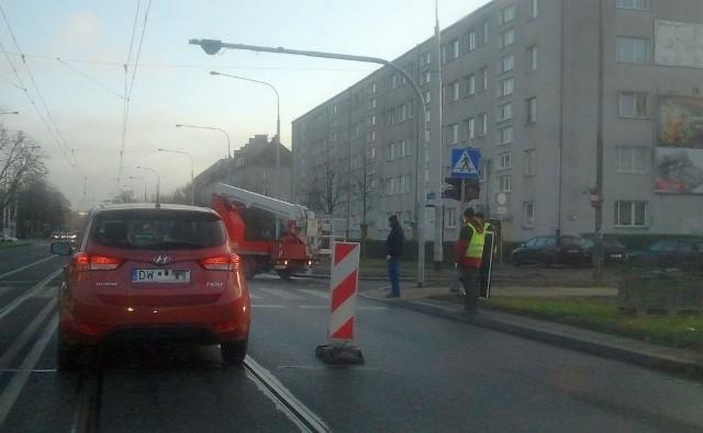 Nowa sygnalizacja świetlna przy ulicy Grabiszyńskiej