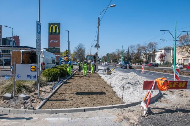 Trwa budowa drogi rowerowej na ul. Grunwaldzkiej