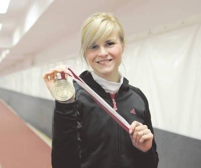 Karolina Błażej z brązowym medalem Fot. Wacław Klag
