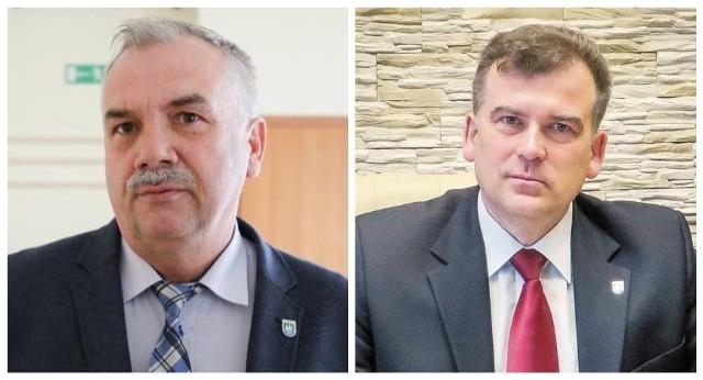 Były burmistrz Michałowa Włodzimierz Konończuk (na zdj. z lewej) oraz aktualny włodarz Marek Nazarko.