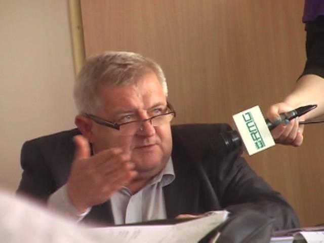 Prezydent Tadeusz Jędrzejczak podczas wtorkowego spotkania z mieszkańcami ul. Jasnej