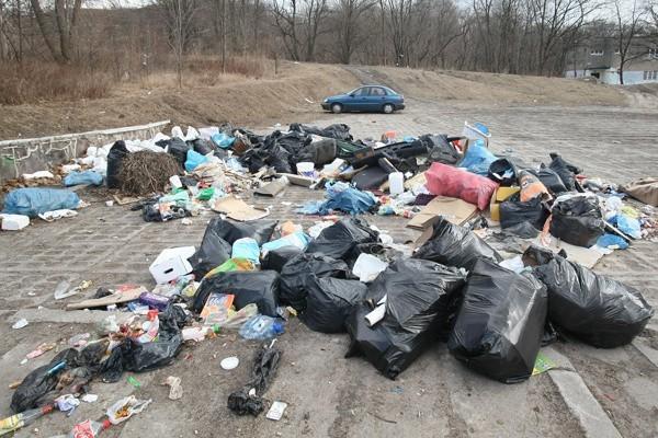 """Jedno z najczęściej zgłaszanych przez mieszkańców """"śmieciowisk"""" znajduje się pod Rudzką Górą."""