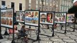Wystawa Elżbiety Dzikowskiej na rynku w Nakle pod patronatem UNICEF Polska [zdjęcia]