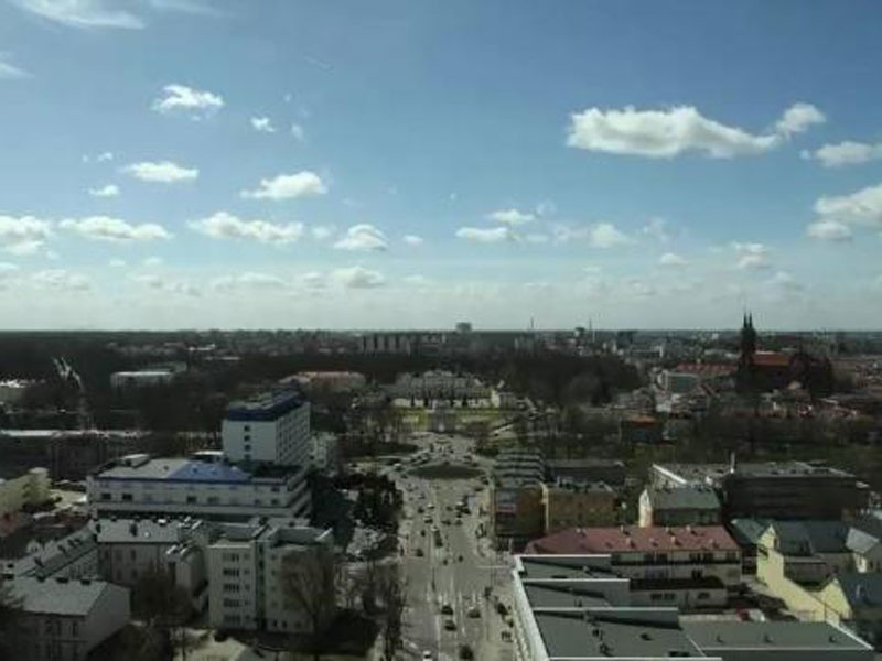 pokazuje piękny Białystok