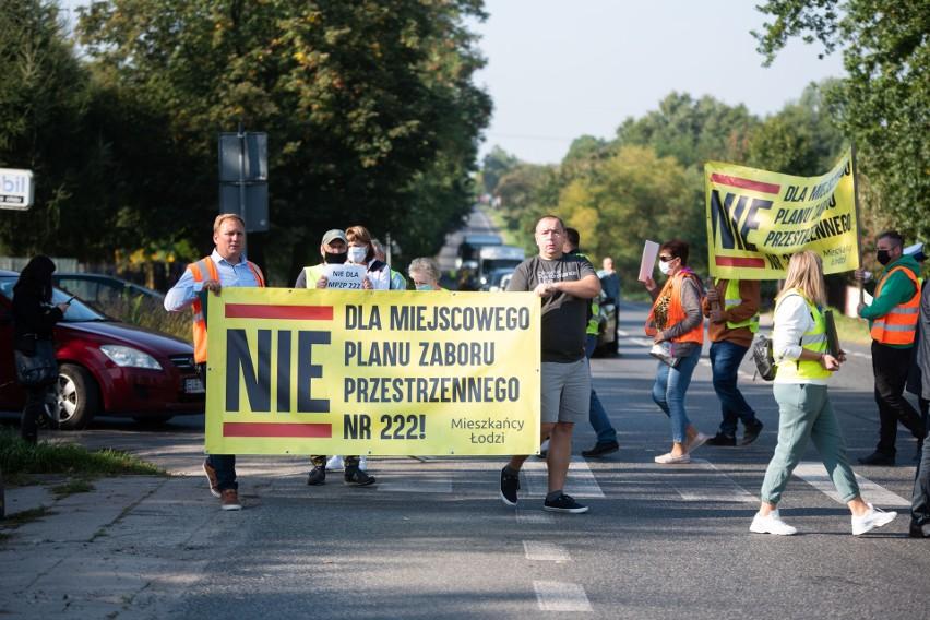 Protest mieszkańców osiedla Wzniesień Łódzkich przeciw...