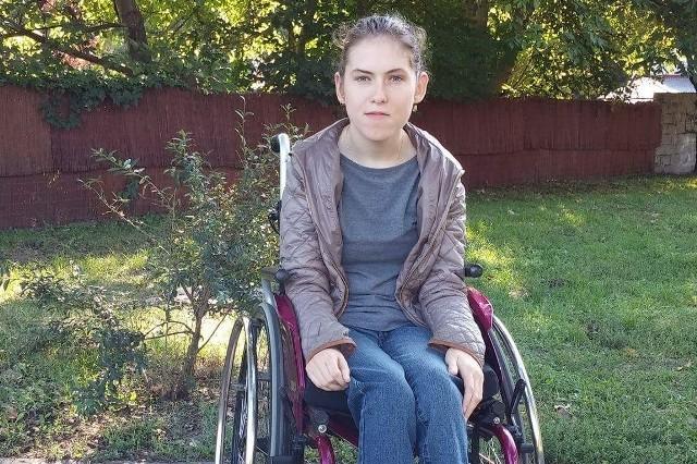25-letnia Marta zmaga się z porażeniem wszystkich kończyn.