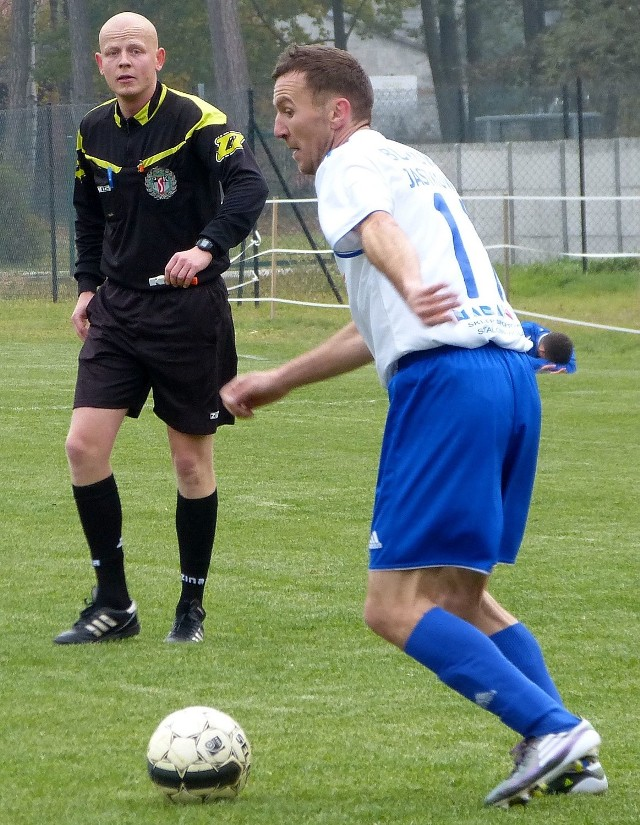 Dariusz Bartnik strzelił dwa gole dla Bukowej Jastkowice.