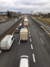Zderzenie na A4 w Katowicach! Olbrzymi korek na autostradzie w kierunku Krakowa