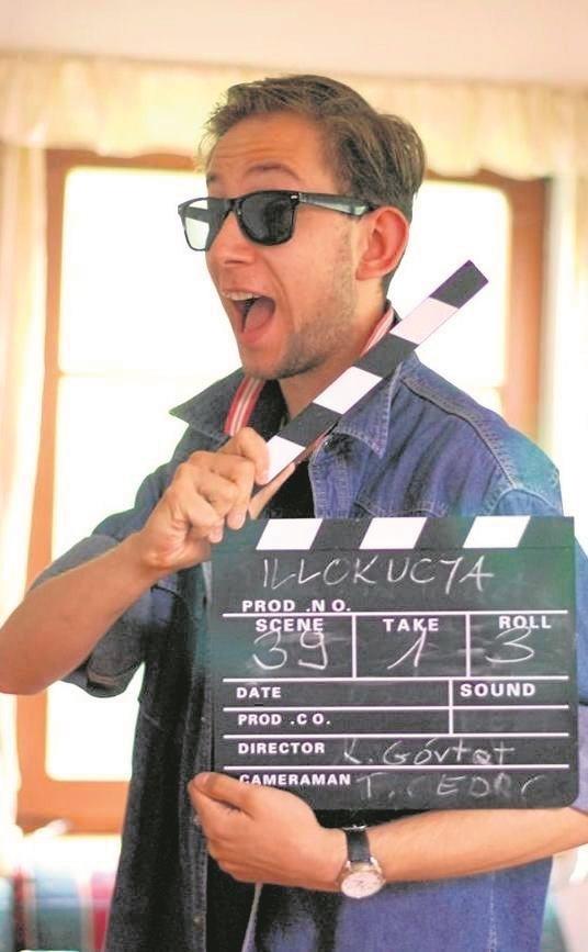 """Jarek Milner zagrał nie tylko w """"Ostatnim klapsie"""". Tutaj podczas zdjęć do filmu """"Illokucja"""" Katarzyny Górtat."""