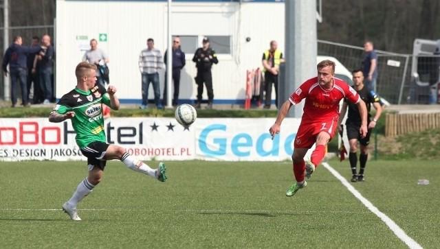 Tomasz Lisowski rozegrał dobry mecz z Chojniczanką