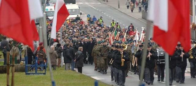 Obchody Święta Niepodległości w Koszalinie.