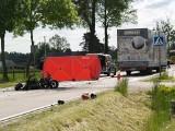 Wypadek w Łysych, 31.05.2021. Zderzenie quada z samochodem ciężarowym. Zdjęcia