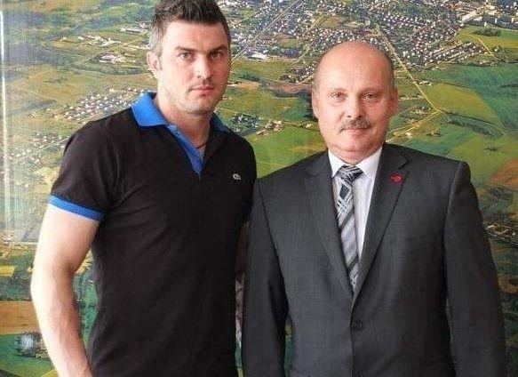 Michał Żewłakow spotkał się m.in. z Jarosławem Radaczem, burmistrzem Brodnicy.