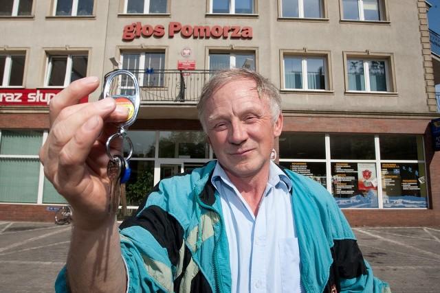 Jerzy Pysz ze Słupska odnalazł w naszej redakcji klucze.