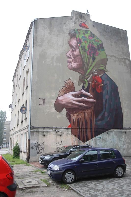 Politechniki 16 - I - Więcej: Nowy mural przy Politechniki....