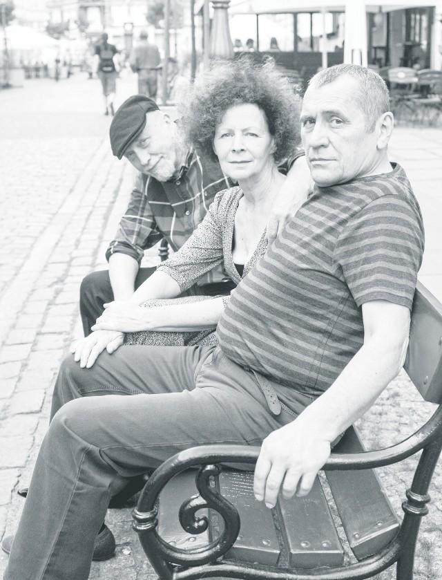 Grzegorz Młudzik (z prawej), Anna Januszewska i Jacek Piątkowski - to trio zobaczymy w sztuce Wyrypajewa