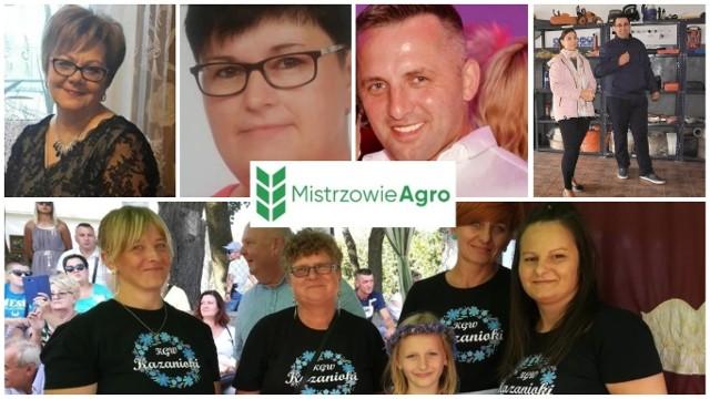 U góry od lewej: Tamara Kalinowska, Grażyna Szarszewska, Maciej Latos, Mariusz Pawlak z małżonką. Na dole: KGW Kazanie