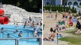 Pierwsi plażowicze na szczecińskich kąpieliskach. Pogoda sprzyja wypoczynkowi nad wodą. ZDJĘCIA