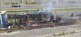 Pożar ciężarówki na autostradzie A1. Prawy pas do Gliwic zablokowany ZDJĘCIA