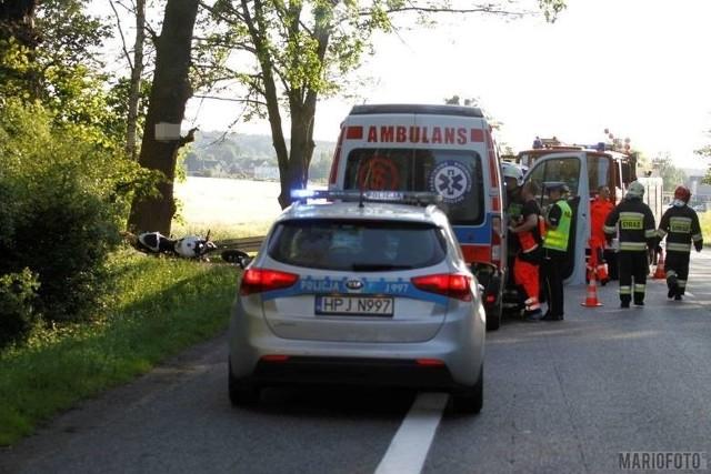 W wypadku na DK 46 między Opolem a Dąbrową zginął 30-letni motocyklista.