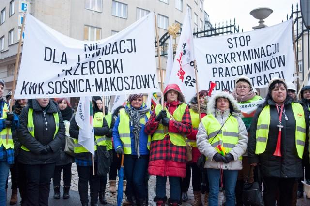 Żony górników w Warszawie