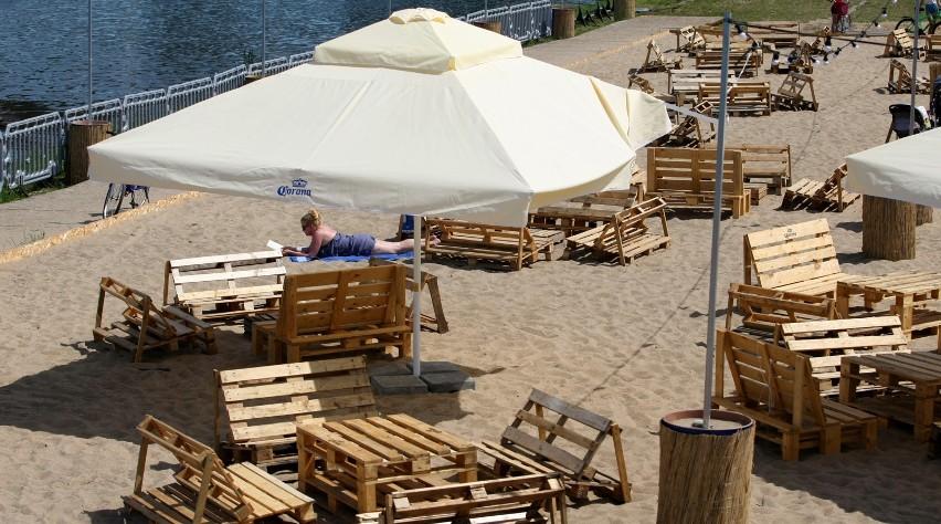 Plaża przy Hali Orbita
