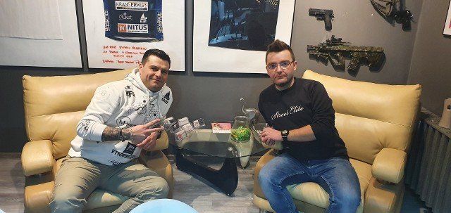Na zdjęciu od lewej Michał Górski i Michał Leśniak z Moto Fest