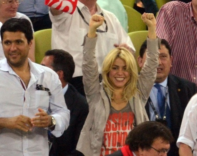 Shakira na meczu Hiszpania - Chorwacja