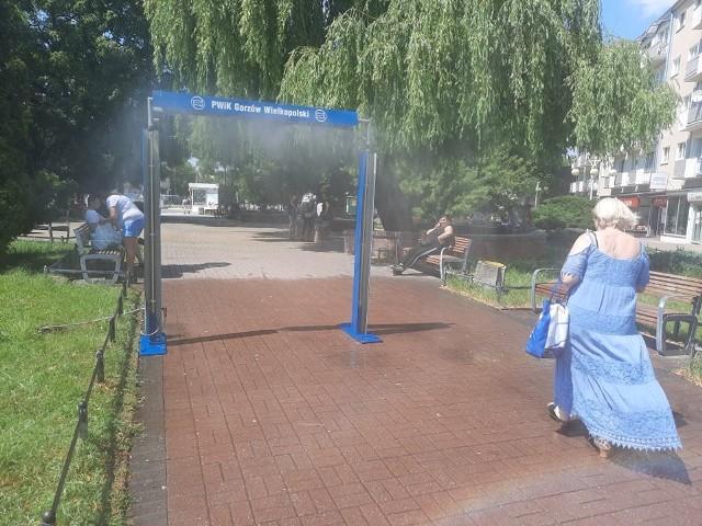 Kurtyny wodne ustawiane są latem w Gorzowie już od kilku lat.