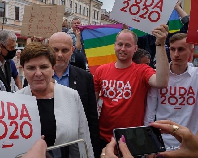 Beata Szydło w Tarnowie zachęcała do głosowania na Andrzeja Dudę