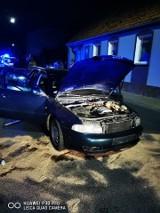 Nocny wypadek w Barwicach. Zderzyły się dwa auta [zdjęcia]