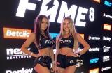 Ring girls Fame MMA 8. Weronika Jezierska, Marija Markowa, Róża Wojtczak i Magdalena Łukasik były przy zawodnikach [zdjęcia]