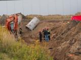 Tragiczny wypadek na terenie budowy przy ul. Olechowskiej. Nie żyją dwaj mężczyźni
