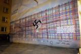 Mural w Białymstoku zdewastowany. Swastyka zamiast żydowskiej menory