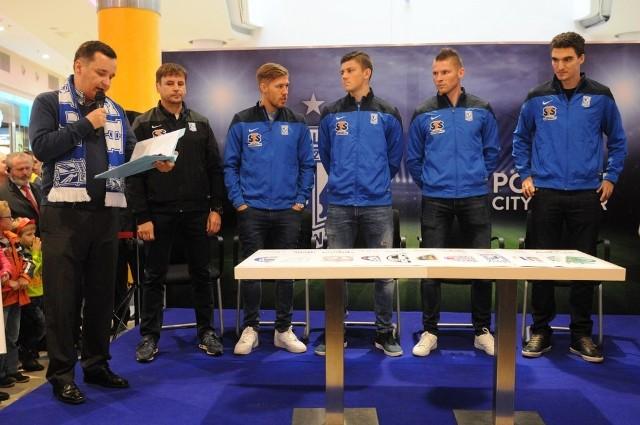 Piłkarze Lecha w Poznań City Center