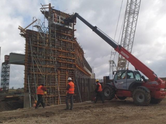 Na budowie A4. Fot. N. Ziętal