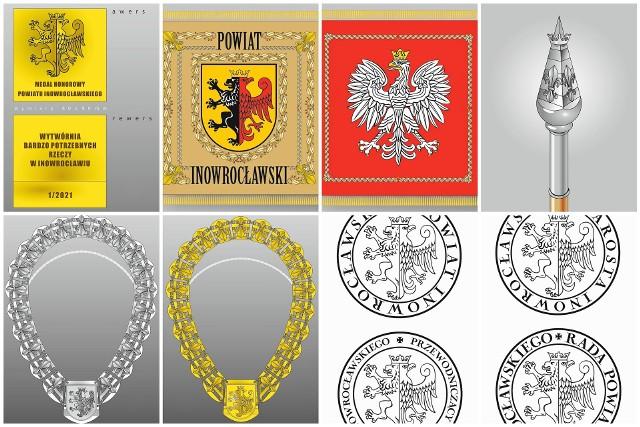 Tak będą wyglądać insygnia powiatu inowrocławskiego. Zaprojektował je Lech Karczewski