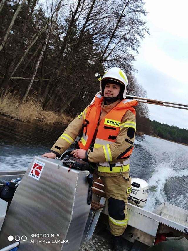 W akcji, która trwała ponad 4,5 godziny, wzięli udział dysponujący łódką druhowie OSP w Pilaszkowie