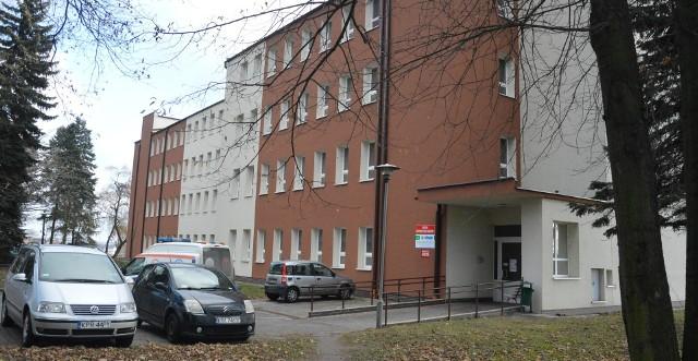 Budynek, w którym mieści się Oddział Zakaźny proszowickiego szpitala