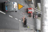 Wypadek koło dworca Łódź Kaliska. Olbrzymie korki na al. Bandurskiego [FILM]